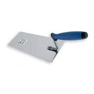 Stainless bucket trowel  180mm rubber handle