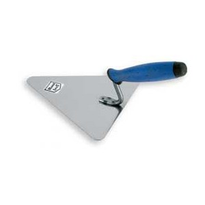 Stainless triangular brick trowel  200mm rubber handle