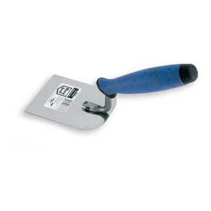 Stainless margin trowel 100mm rubber handle