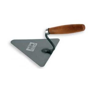 Black triangular brick trowel 180mm