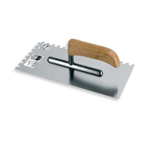 Stainless trowel AL. 270 mm notched 6*6